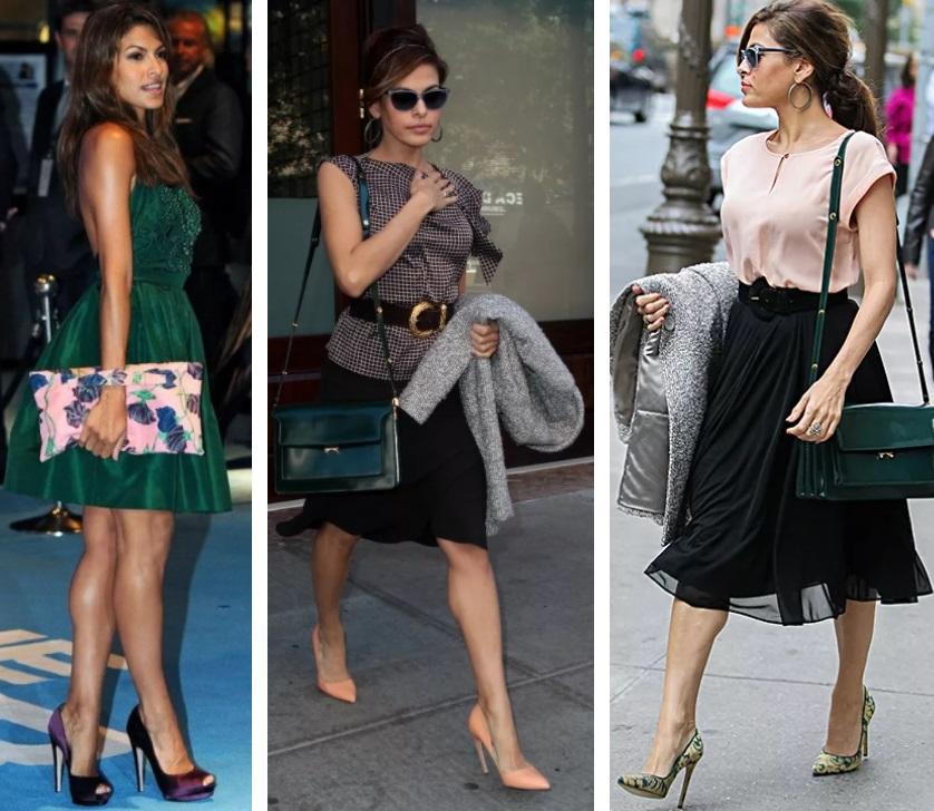 ева мендес стиль и типаж по кибби, обувь на каблуке