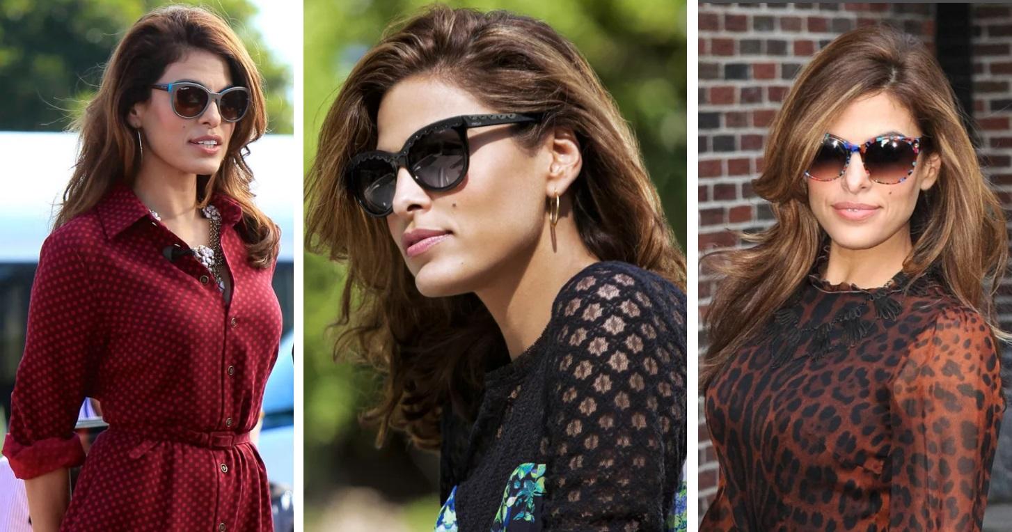 ева мендес стиль и типаж по кибби, солнечные очки