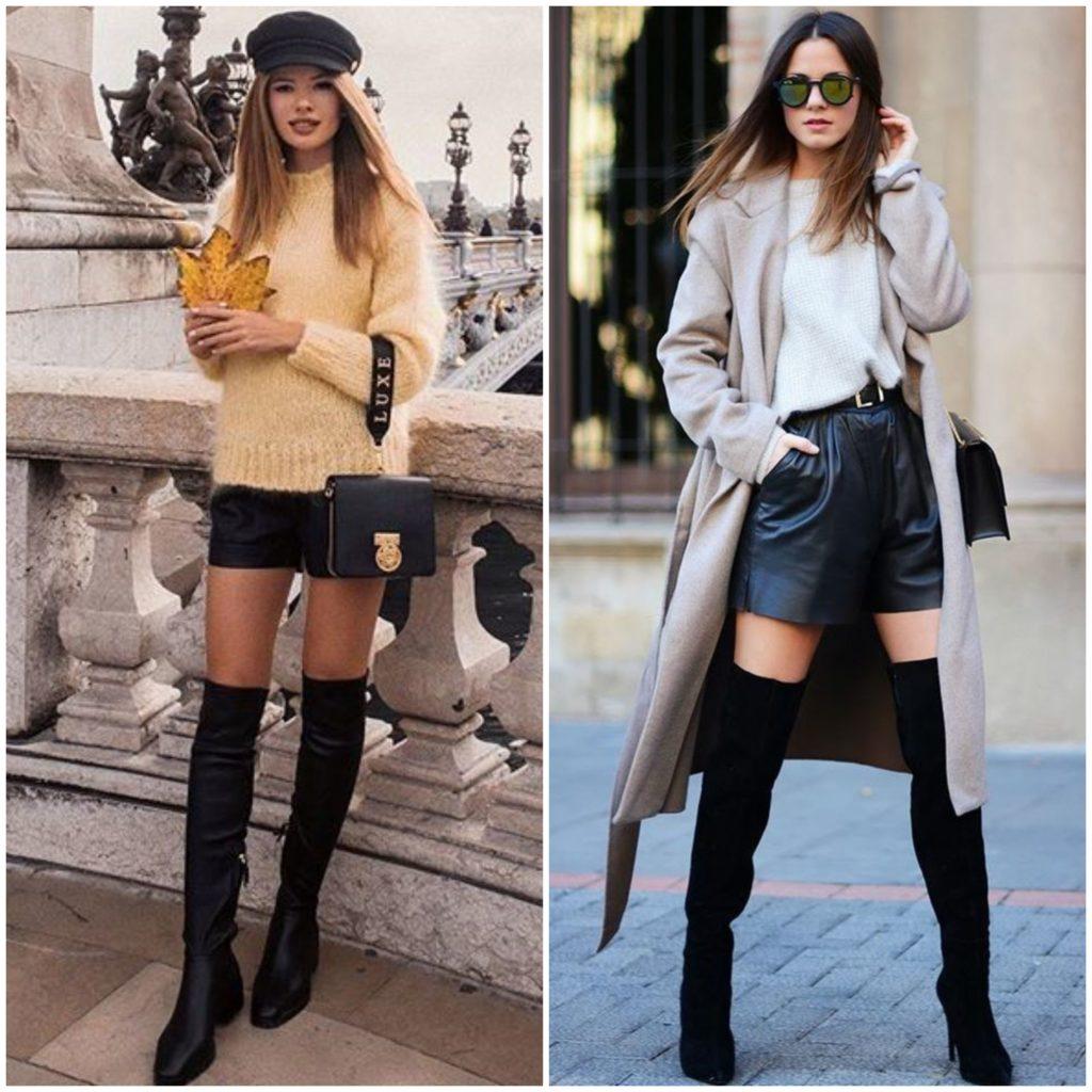черные ботфорты с чем носить